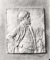 "Image of Helen Farnsworth Mears Clay Bas-relief of ""Augustus St. Gaudens"" - P1962.2.12"