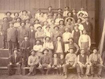 Image of Stanhilber Amos & Company mill workers - P1965.1.2