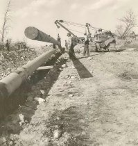 Image of Wisconsin Public Service Laying Gas Pipeline - P1989.3.59