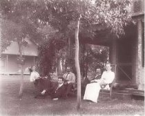 Image of Ernest and Almeda Gallup at Summer Home - P2000.3.197
