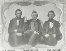 Image of Phillip Van Renselaer, George F., and William Wallace Wright - P2000.20.91