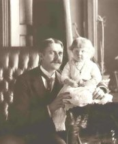 Image of Charles Curry Chase and daughter Jewell Sperry Chase - P2001.1.165