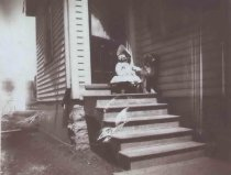 Image of Gladys Pueppke at Side Door - P2001.48.88