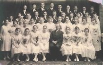 Image of Reverend Weng and 1916 Confirmation Class - P2001.48.116