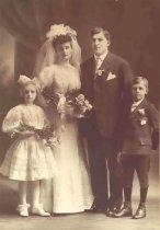 Image of John M., Dorthy Johnson, George & Margaret Mirkes Wedding Group - P2002.17.3