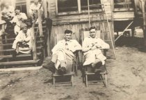 Image of Two Convalescent Soldiers Drinking Beer - P2002.23.10