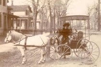 Image of Winifred Hollister Bouck with Carriage - P2002.29.59