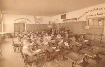 Image of interior of a classroom - P2004.37.14