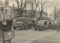Image of Military Vehicles on Court St.
