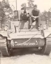Image of George Dempsey on Tank - P2005.40.10