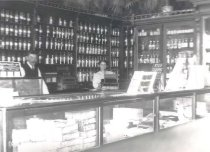 Image of Albert F. Rideout in his Pharmacy - P2006.77.177