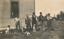 Image of Five Hunters with Dogs - P2008.13.12