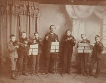 Image of Otto F. Daus With Violin Students - P2009.9.1
