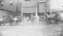 "Image of horse teams at ""Price Mills"""