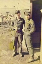 Image of Corporal Dale G. Stark and Friend - P1995.22.66