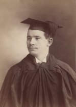 Image of Unidentified Man in Cap & Gown - P2012.15.27