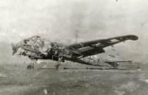 Image of Destroyed German Junkers Bomber - P2007.53.39
