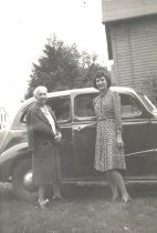 Image of Lorraine B. Meyer with Car - P2013.38.59