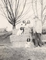Image of Pearl S. Hansen with his Spaniels - P2015.58.15