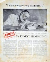Image of Ernest Hemingway Advance Press Sheets 'Part II - Concluding the Christmas G