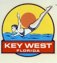Image of Key West Diving Travel Decal