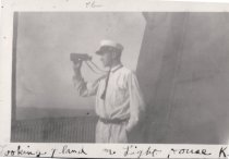 Image of 0000.00.0087b - Clement Brooks at Carysfort Reef Lighthouse