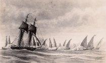 Image of 0000.00.0189 - U.S.S. Enterprise Driving Off Pirates