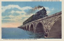 Image of Train on Long Key Viaduct Bridge