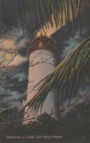 Image of Key West Lighthouse at Night
