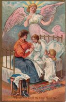 Image of Angel watching over young children