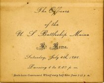 Image of U.S.S. MAINE Invitation