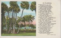 Image of Palm trees and poem