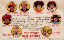 "Image of Cartoon of  ""Dam"" family members"