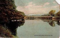 Image of Housatonic River & Bridge, New Milford, Connecticut