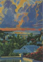 Image of 0000.01.0004 - Sunset over the Harbor from Casa Antigua, Key West