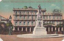 Image of Inglaterra Hotel and Marti Statue, Havana, Cuba