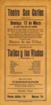 Image of Tatica y los Viudos Handbill