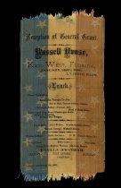 Image of General Ulysses S. Grant Reception Menu