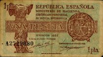 Image of Republica de Espanola 1 Peseta Note