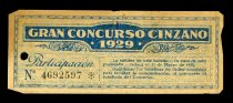 Image of Ernest Hemingway Spanish Raffle Ticket