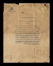 Image of Spanish Embassy Safe Conduct Pass