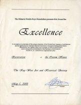 Image of Certificate, Achievement - 2017.11.0001