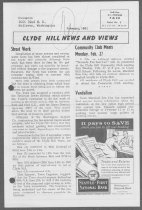 Image of Clyde Hill News Sample Front Page