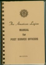 Image of Manual for Post Service Officers, 1981