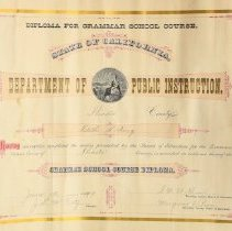 Image of Edith Hocking, Shasta Co.1899 Grammar School Diploma