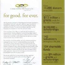 Image of Annual Report 2011  Shasta  Regional Community  Foundation