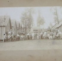 Image of Terry Lumber Mill with families