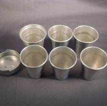 Image of Nested drinking cups, top view