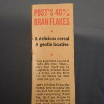 Image of Post bran flakes box, left side