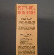 Image of Post bran flakes box, right side